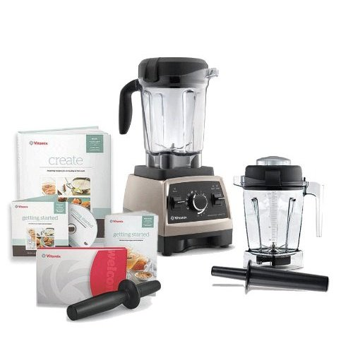 Vitamix Professional Series 750 Brushed Stainless Steel Blender With 64 Ounce Wet Container and 48 Ounce Wet Container