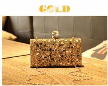 Brand Luxury Shiny Diamond Evening Bag Women Chain Purse Fashion Crystal Acrylic Clutches Banquet Socialite Ladies Handbag Sac
