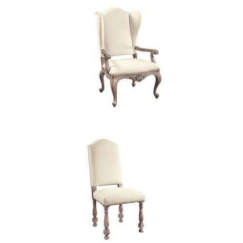 Pulaski 6 Piece Upholstered Dining Chair Set in Cream