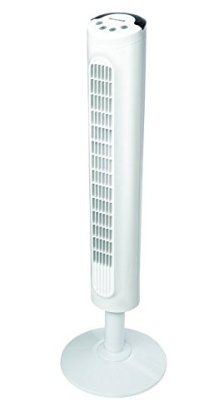 Kaz Honeywell HYF023W Comfort Control Tower Fan, Wide Area Cooling, White