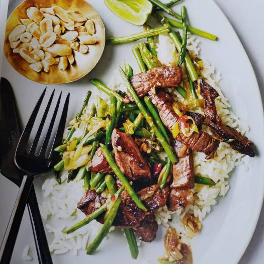 Steak and Aspharagus Stir-Fry