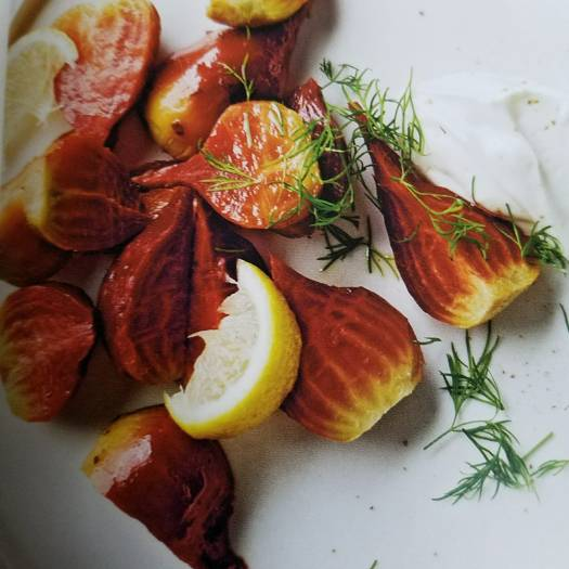 Roasted Beets with Yogurt Sauce